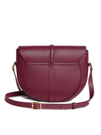 Besace 16 in Burgundy Satinated Calfskin back