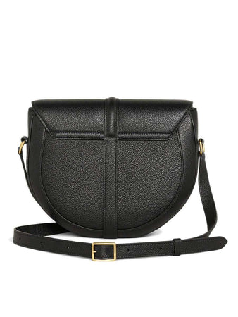 Besace 16 in Black Grained Calfskin back