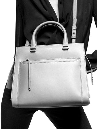 East Side Medium Tote Bag in Smooth Leather white