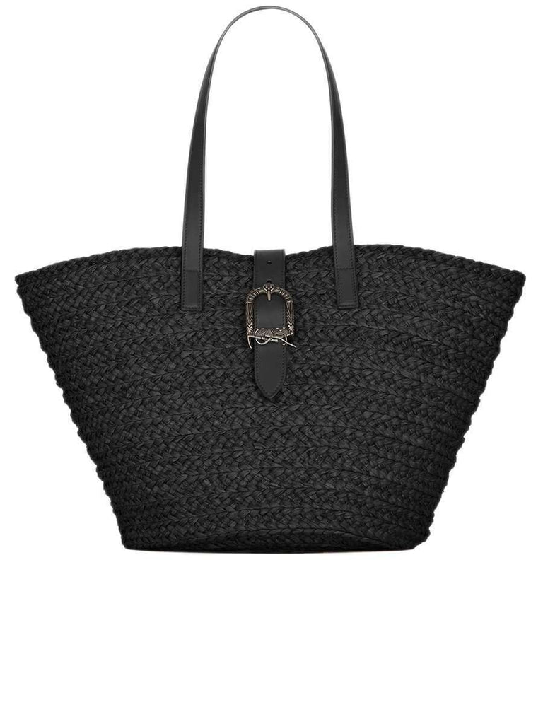 Panier Medium Bag in Raffia with Celtic Buckle