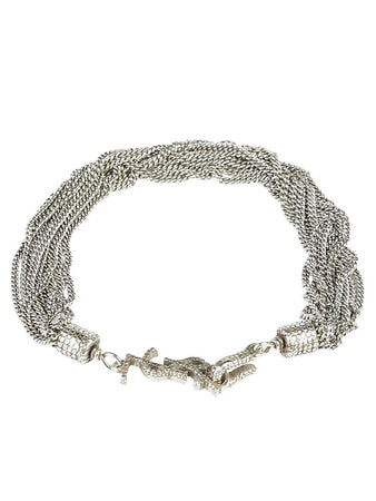 Loulou Bracelet with Twisted Chains in Silver