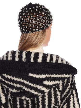 Embellished Open Knit Hat back