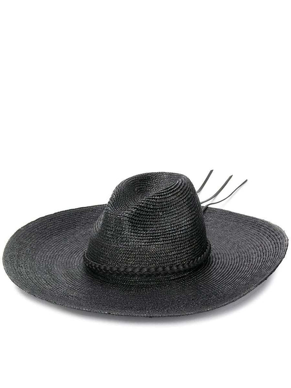 Wide Brim Straw Fedora Hat
