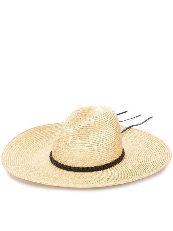Wide Brim Straw Fedora Hat white