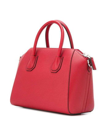 Antigona Small Vermillon Grained Leather Handbag right