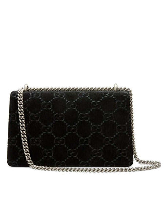 Dionysus GG Velvet Small Shoulder Bag in Black back