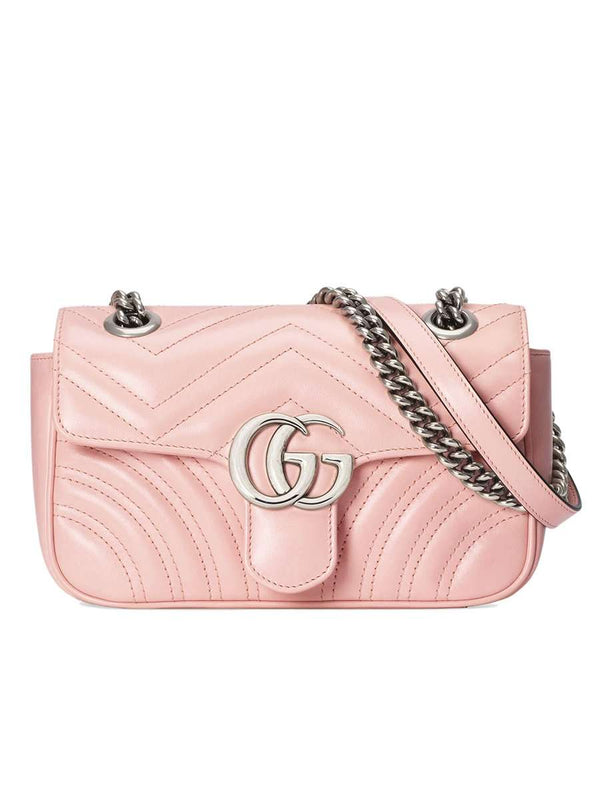 GG Marmont Mini Matelassé Pink Leather Shoulder Bag