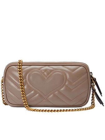 GG Marmont Mini Chain Bag in Dusty Pink