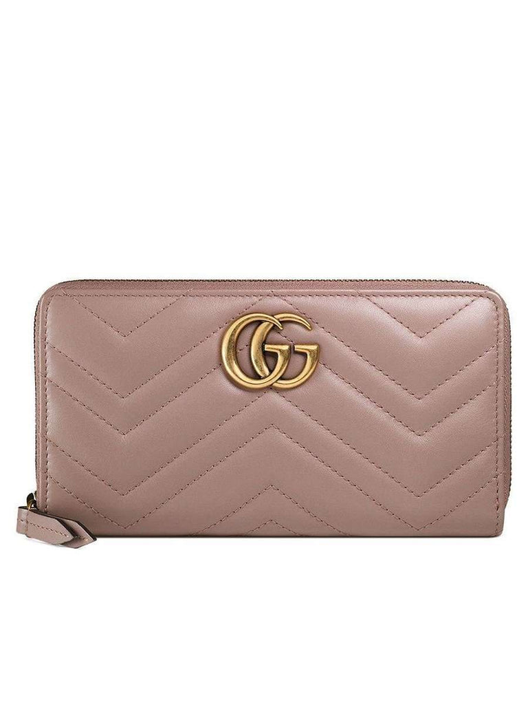 GG Marmont Zip Around Wallet