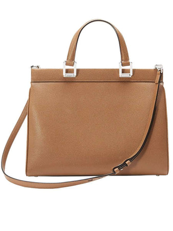 Zumi Grainy Leather Medium Top Handle Bag