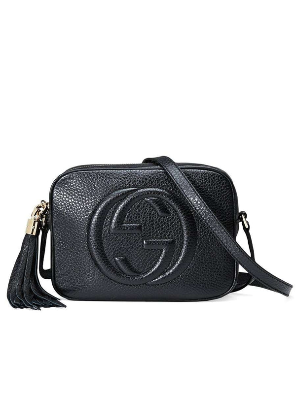 Soho Small Leather Disco Bag in Black