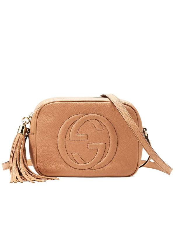 Soho Small Leather Disco Bag in Rose Beige