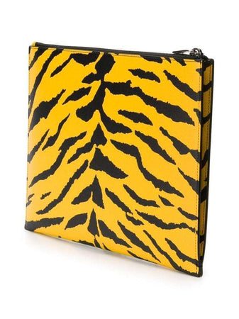 Zipped Pouch in Zebra Yellow