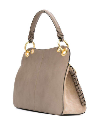 Tilda Structured Leather Bag in Motty Grey