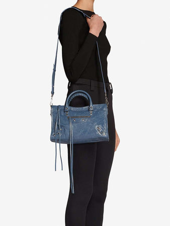 Classic City Small Shoulder Bag in Denim Blue