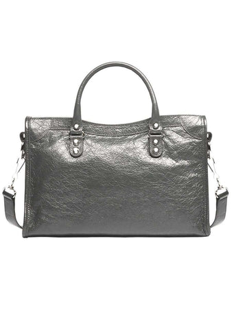Classic City Shoudler Bag in Grey
