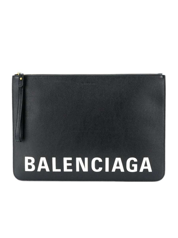 Logo Print Clutch Bag