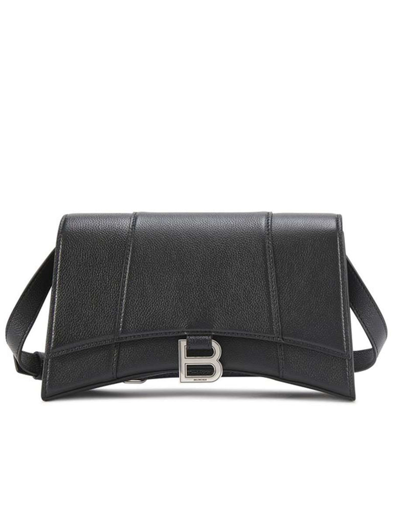 Hourglass Baguette Bag in Black