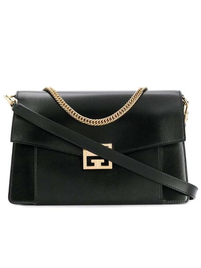 GV3 Black Leather Shoulder Bag