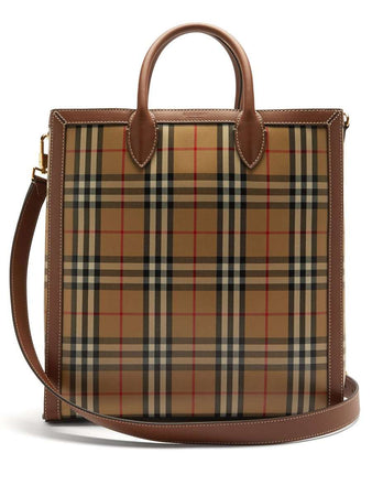 Medium Vintage Check Coated Canvas Tote