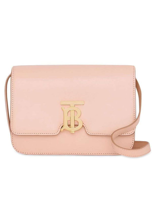 Small TB Bag in Smooth Rose Beige Leather