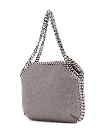 Mini Falabella Shoulder Bag in Light Grey