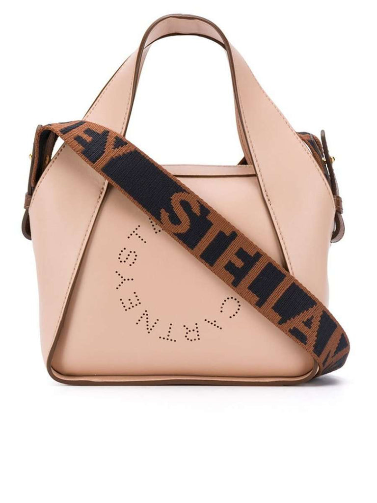 Mini Stella Logo Cross Body Bag in Blush
