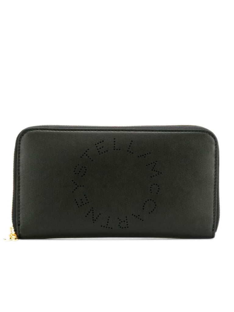 Stella Logo Continental Wallet in Black