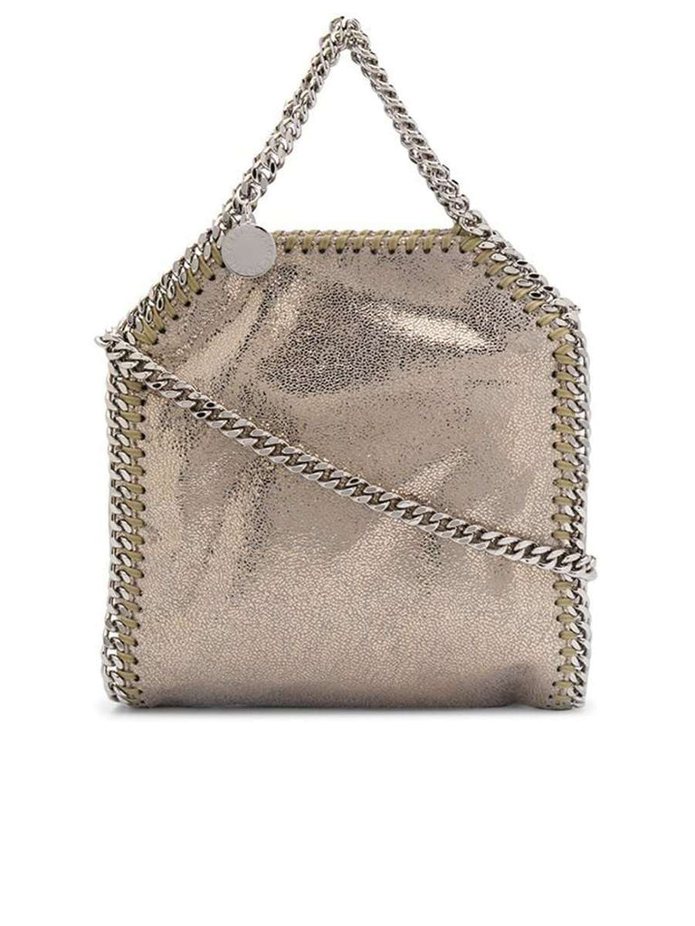 Tiny Falabella Tote Bag in Shimmering Gold