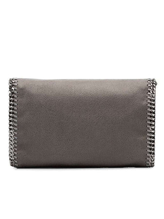 Mini Falabella Shaggy Deer Shoulder Bag Slate Grey