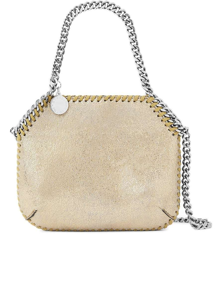 Mini Falabella Shoulder Bag in Pyrite Silver