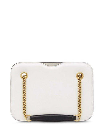 Karligraphy Pocket Shoulder Bag in White