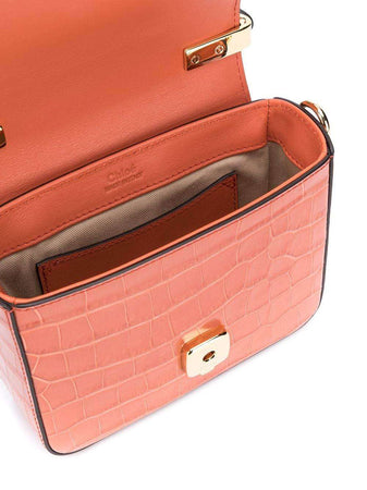 Mini Chloe C Bag in Tawny Orange