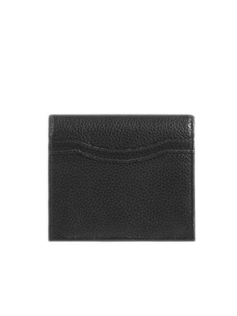 Neo Classic Flap Coin and Card Holder in Black
