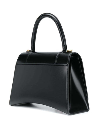 Hourglass Medium Top Handle Bag in Black