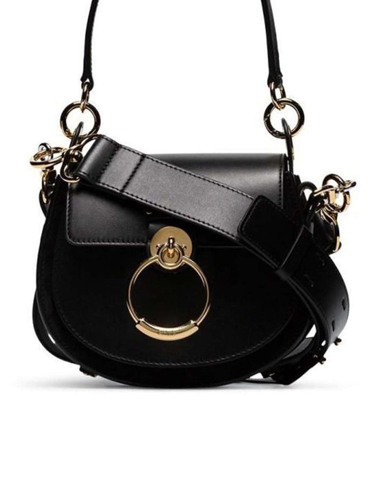 Small Tess Black Leather Bag