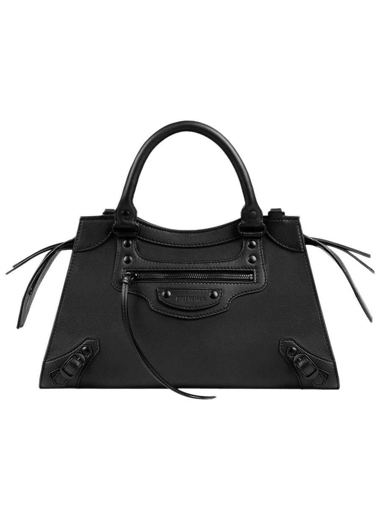 Neo Classic Small Top Handle Bag in Black