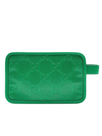 GG Embossed Cosmetic Case Green