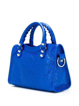 Classic City Mini Bag in Metallic Blue