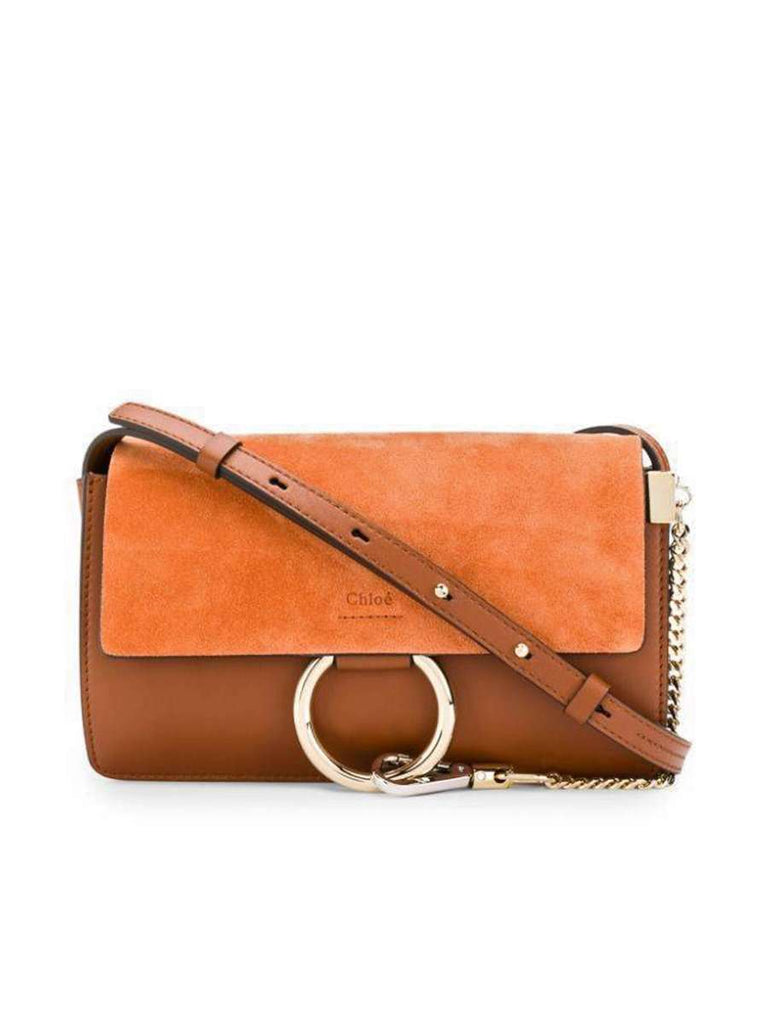 Faye Small Shoulder Bag in Classic Tobacco