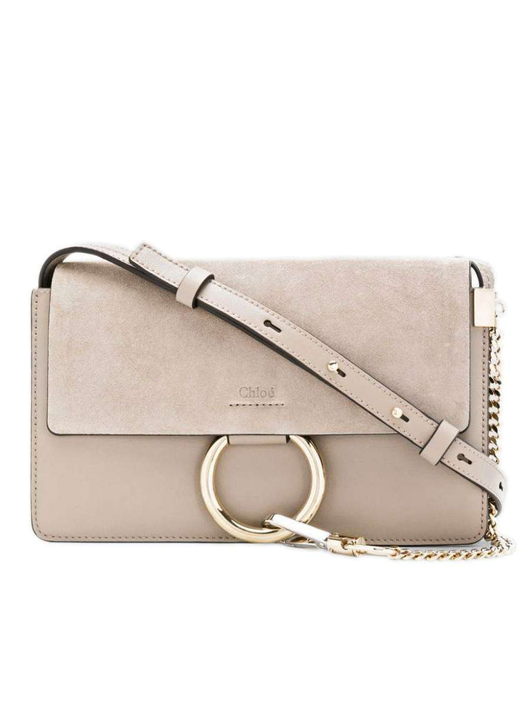 Faye Small Shoulder Bag in Motty Grey