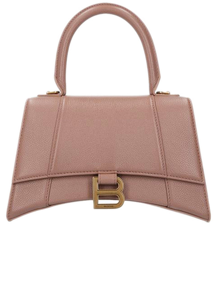 Hourglass Small Top Handle Bag in Nude