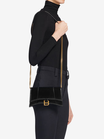 Hourglass Chain Bag in Black