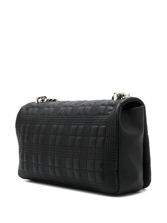 Medium Quilted Grainy Leather Lola Bag Black