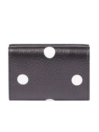 Papier Mini Wallet in Black and White Polkadots