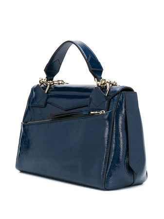 ID Medium Bag in Midnight Blue Crackling Leather