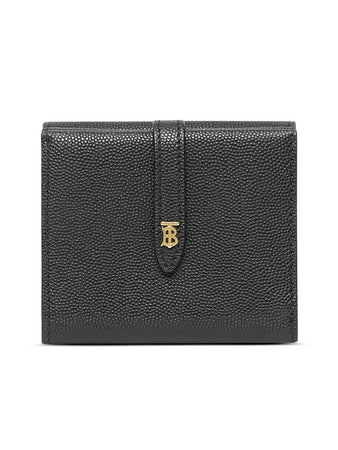 Monogram Folding Wallet in Black
