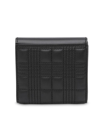 Quilted Envelope Wallet in Black