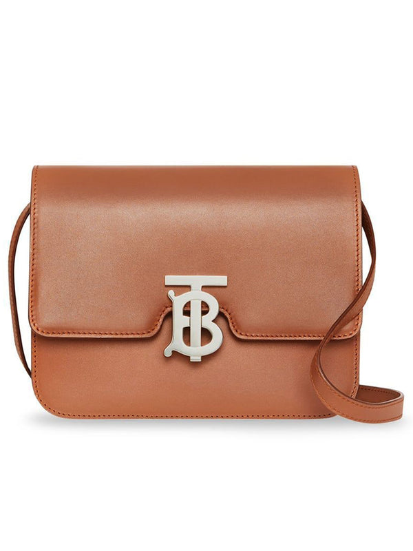 Small Leather TB Bag in Malt Brown