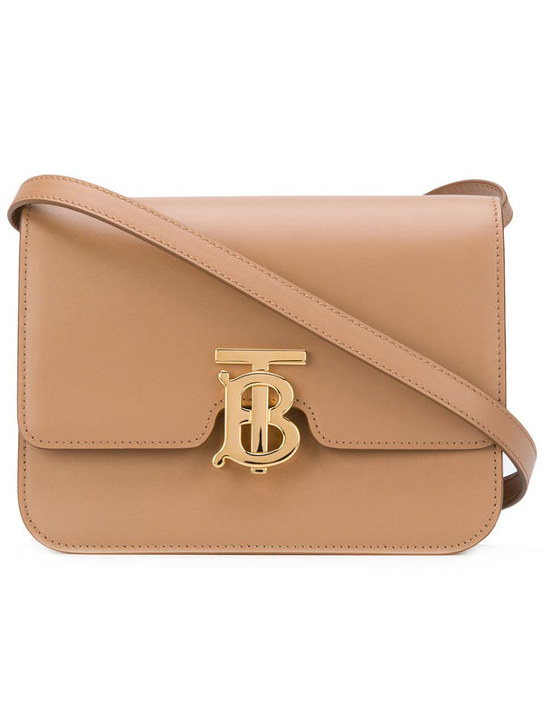 Small Leather TB Bag in Camel